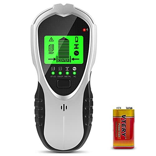 innislink Ortungsgerät, Leitungssucher Wand Scanner Detektor 4 in 1 Multifunktions mit LCD Anzeige Audioalarm, Metalldetektor Kabelfinder leitungssuchgerät für Metall Holz Stromleitung Live-AC-Kabel