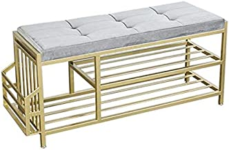 XDDDX Simple Shoe Stool Home Shoe Cabinet Door Strip Shoe Stool Simple Modern Sit Sofa Stool Storage Type (Color : A)