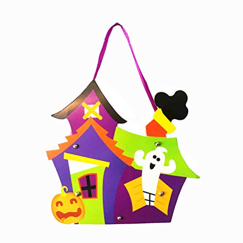 BESTOYARD 2PCS Halloween Candy Bag DIY Lovely Gift Bags Hallowmas Gift for Kids Party Supplies Decor(House)
