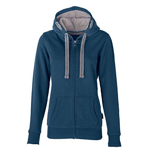 HRM Damen Jacket F Kapuzenpullover, Blau (Denim 7), X-Large