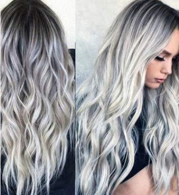 Pelucas de onda gris