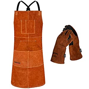 BEETRO Welding Apron with Gloves 3