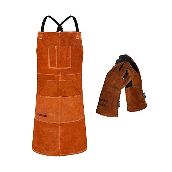 BEETRO Welding Apron with Gloves 1