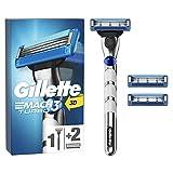 Gillette Mach3 Turbo - Afeitadora para hombre (incluye 3 cuchillas de recambio)