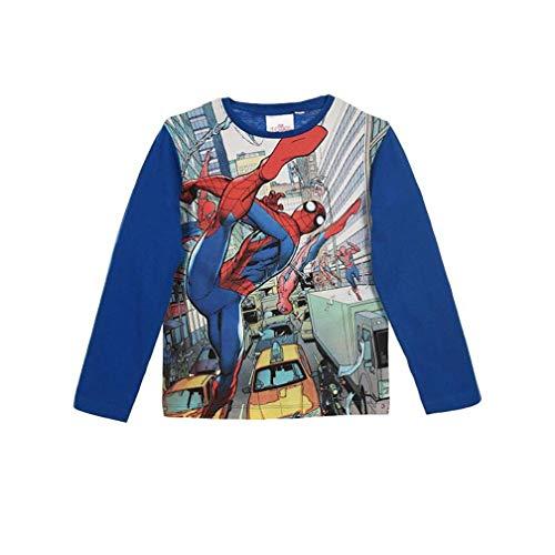 Spiderman Langarmshirt Jungen Marvel Ökotex Standard 100 (Blau; Blue, 98)