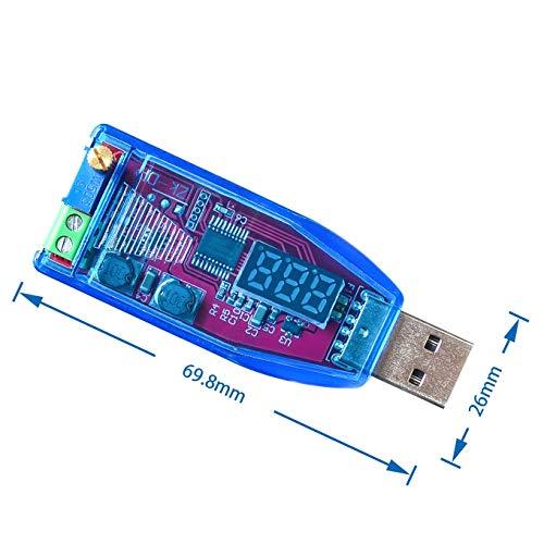 ARCELI DC-DC Regulador de Voltaje de Fuente de alimentación Ajustable de Buck-Boost USB 5V a 3.3V 9V 12V 24V DP