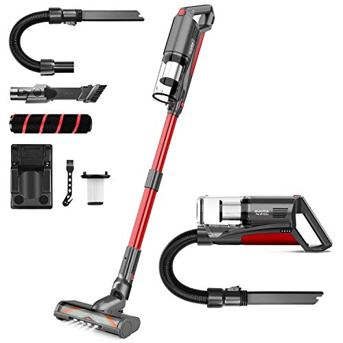 Cordless Vacuum Cleaner, Aucma by whall 5 in 1 Brushless Motor 3 Suction Modes Vacuum Cleaner up to 53 Mins Runtime Cordless Stick Vacuum with Multifunctional Brush for Home Hard Floor Carpet Pet Hair