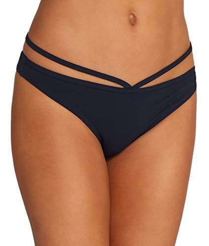 Miss Mandalay BLACK Icon Hipster Bikini Swim Bottom, US Large