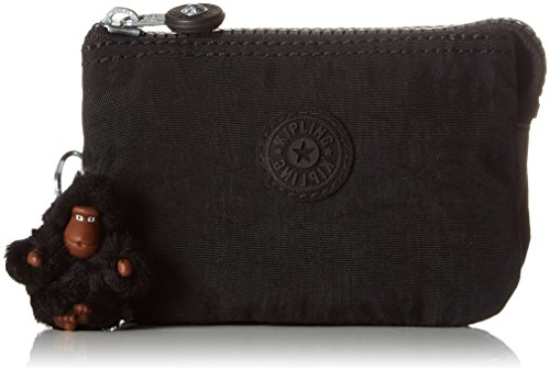 Kipling Creativity S, Cartera para Mujer, Negro (True Black), 14.5x9.5x5 cm
