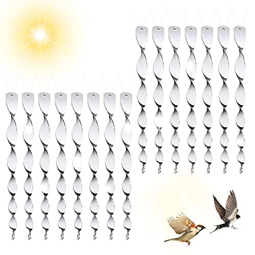 Reflektierende Vogelschreck, Redmoo 15 Stück Reflektierende Windspirale, Vogelabwehr zur Vogel Abwehr Garten, Reflektierende zur Halten Sie Vögel Weg von Ihrem Haus für Haus, Balkon und Garten