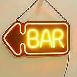 Neón Para Letrero De Barra LED Luz de Neón Luz Colgante Hasta El Tablero de Anuncios de Letras para Business Wall Decoración Artística para Pub, Bistró, Fiestas, Ocio y Lugares de Entre(Color:style 2)