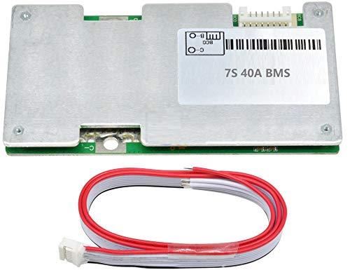 TECNOIOT 7S 40A 24V Li-Ion Lipo Lithium 18650 Power Protection Board with Balance