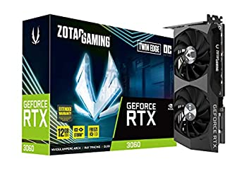 ZOTAC Gaming GeForce RTX 3060 Twin Edge OC 12GB GDDR6 192-bit 15 Gbps PCIE 4.0 Gaming Graphics Card IceStorm 2.0 Cooling Active Fan Control Freeze Fan Stop ZT-A30600H-10M