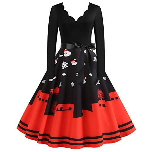 Damen Strickkleid Elegante Pulloverkleid mit Zopfmuster A-Linie Langärmeliges Kleid Strickpullover für Winter