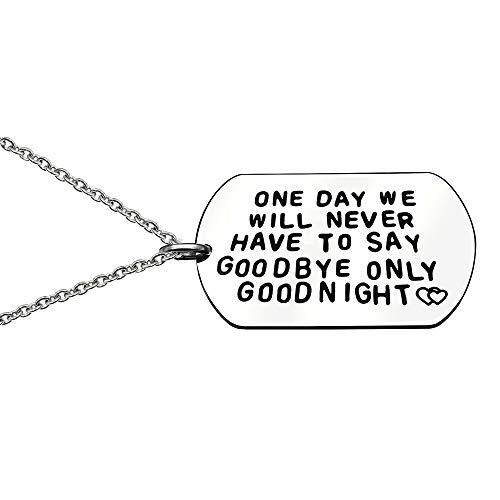 """Collar con cadena de""""One Day We Will Never Have To Say Goodby"""" para enamorados o parejas, regalo para el día de San Valentín"""