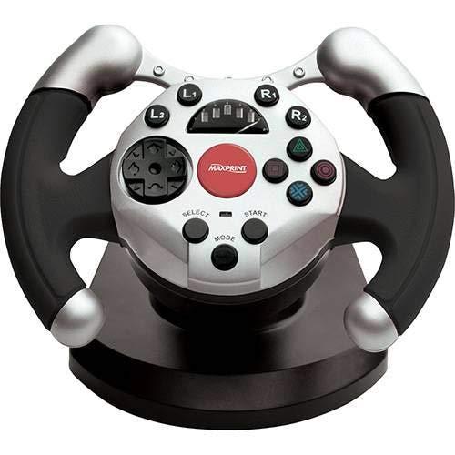 Volante Dual Shock Racing PC - Maxprint