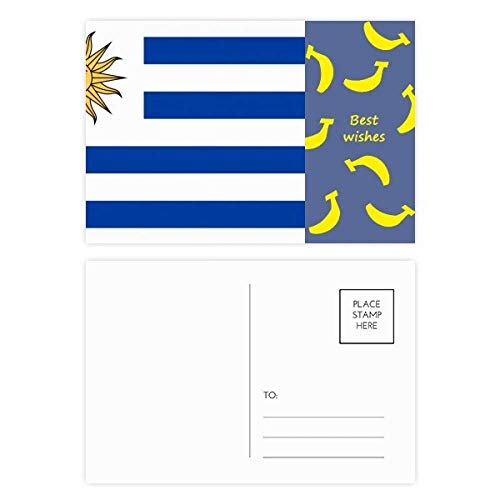 DIYthinker Uruguay NationalFlaggege Südamerika Land Banana Postkartenset dankt Karte Mailing Side 20pcs 5.7 Zoll x 3.8 Zoll Mehrfarbig