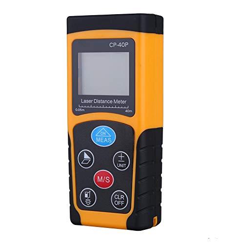 Medidor de Distancia, buscador de Rango de Medida Compacto Digital automático de Alta precisión para medición de Distancia, construcción, Industrias, etc.(40m)