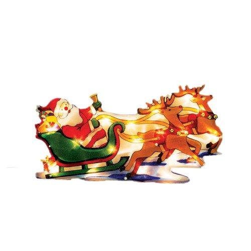 Viscio Trading 172971 Placca Bifacciale Babbo, Multicolore, 45x23x2 cm