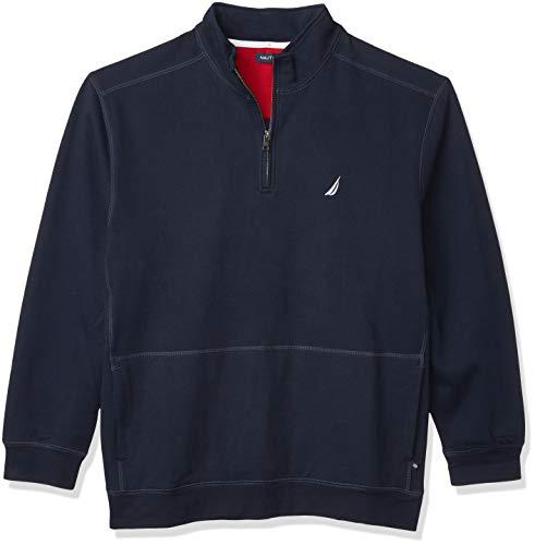 Nautica Men's Classic Fit Quarter-Zip Fleece Pullover, Navy, X-Large
