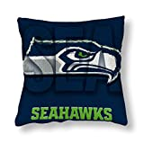 VF LSG Double Side Print Seattle Seahawks Design Pillow Cases Home Decorative Cozy 18'×18'