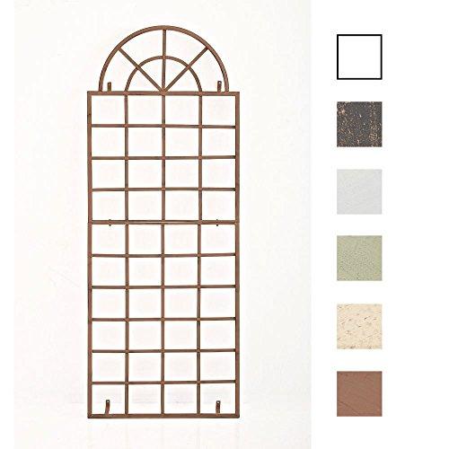 CLP Wand-Rankgitter Viva mit Rahmen I Rankgitter aus Eisen zur Wandbefestigung I erhältlich, Farbe:antik braun