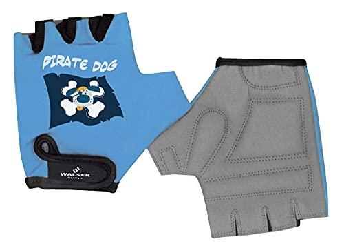 Guantes de ciclismo para niños talla XXS, azul claro