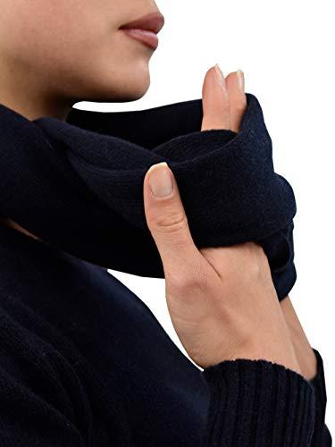 DALLE PIANE CASHMERE - Geschlossener Schal aus 100prozent regeneriertem Kaschmir - für Frau, Farbe: Blau, Einheitsgröße