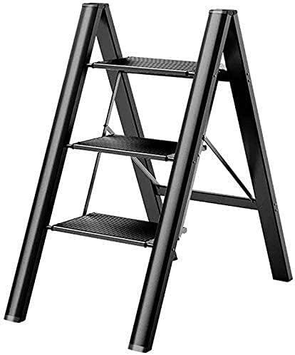 Ladera plegable liviana de la escalera de la escalera de aluminio portátil Taburete de la escalera de la casa con la plataforma Taburete de paso de peso ligero para el hogar y la cocina con el equipo