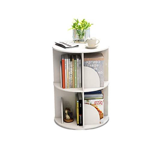Étagère rotative créative bibliothèque de 360 degrés Étudiant Moderne et Simple d'atterrissage de Table Moderne avec Support Multicouche
