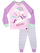 Harry Bear Pijamas para niñas Unicornio Ajuste Ceñido Rosa 5-6 Años