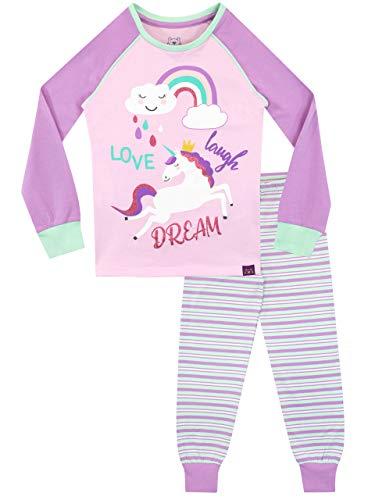 Harry Bear Mädchen Einhorn Schlafanzug Slim Fit Rosa 128