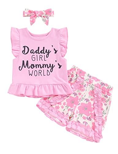 Mameluco de manga corta y pantalones cortos para bebé recién nacido, 3 piezas, estampado de letras para bebés