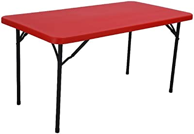 Supreme Blow Moulded Buffet Table ( Plastic , Red )