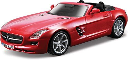 BRIO Bburago 15643035 - Street Fire 1:32 Mercedes-Benz SLS AMG Convertible - 1 unidad, colores surtidos