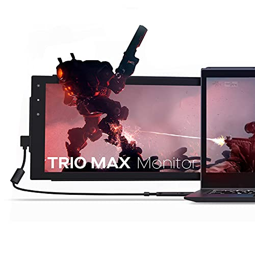Mobile Pixels 14'' Trio Max Portable Monitor for Laptops,Full HD IPS USB A/Type-C USB Powered Dual Tri Screen, Plug and Play Mac Windows Switch Compatible( One 14.1'' monitor plus kickstand)