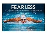 DPFRY Poster Michael Phelps Motivierende Zitate Sportkunst