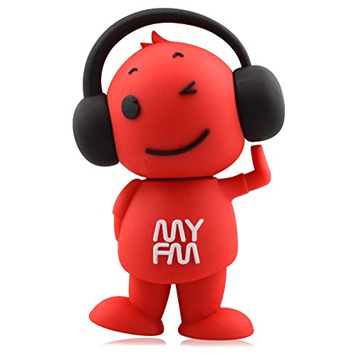 818-Shop no4400080064 memorias USB divertida música DJ, radio FM (64 GB), color rojo