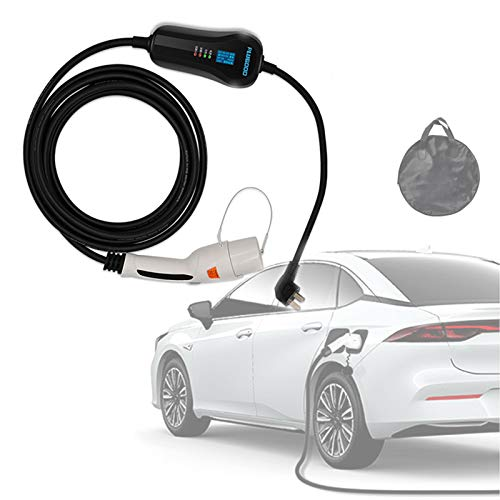 wansosuper Cargador De Vehículo para Automóvil Eléctrico Portátil para Tesla Model 3, Cable De Caja De Carga Ev Tipo 2 con Bolsa De Transporte, Longitud De Cable 5-15m Opcional,15m