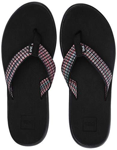 Teva Damen Voya Flip Sandal Womens Pantoffeln, Schwarz (Bar Street Multi Black Bsmbl), 37 EU