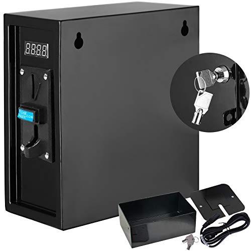 OldFe 6 kg Münzprüfer 1250W Münzautomat elektronisch Münz Zeitschalter 26 x 13 x 28 Digital Coin Operated Timer Control Box Zeitanzeige für Automaten Electronicial Gerät