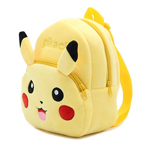 agzhu Pokémon Plush Backpack Children'S Toy Schoolbag Pikachu Plush Stuffed Backpack Kids Birthday Gift Toy 26Cm A Gift For Your Child