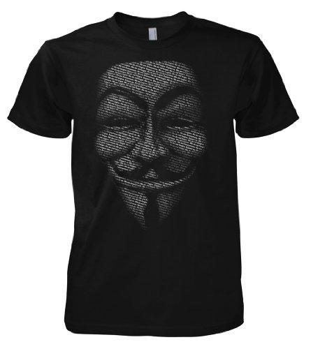 Geek Hacker - Anonymous Slogan Mask 701475 T-Shirt L