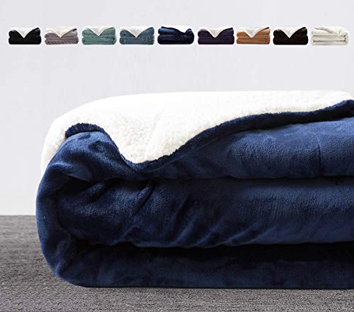 LIANLAM Sherpa Fleece Blanket Queen Size Blanket for Adults Super Soft...