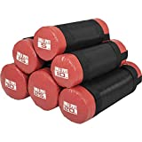GORILLA SPORTS Fitness Sandbag 5-30 kg Schwarz/Rot– Power-Bag mit Sand 15 KG