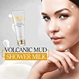 Hukz Vulkanschlamm Duschgel 150 ml, Hautfreundliche Whitening Volcanic Mud Bademilch Body Wash...