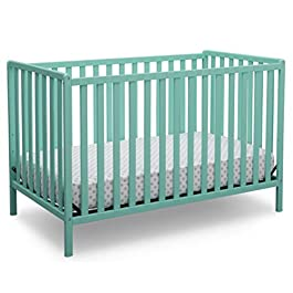 Delta Children Heartland 4-in-1 Convertible Crib, Charcoal Grey