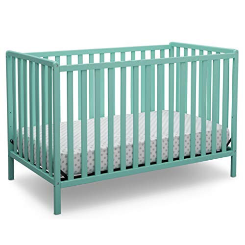 Delta Children Heartland 4-in-1 Convertible Baby Crib, Aqua