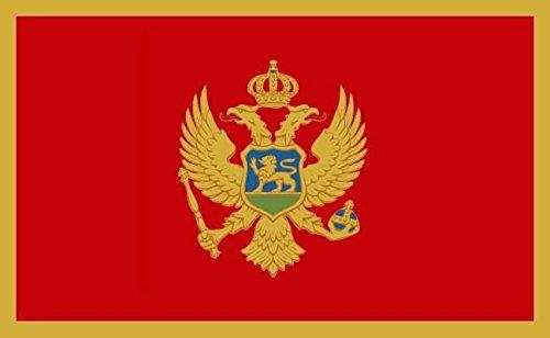 U24 Fahne Flagge Montenegro 90 x 150 cm