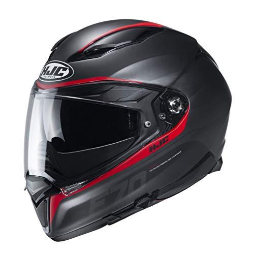 Kaski motocyklowe HJC F70 FERON MC1SF, czarny/czerwony, S